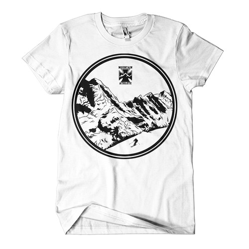 Ski Mountaineering T-Shirt Design