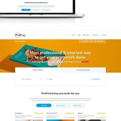 Print Company Webpage Design