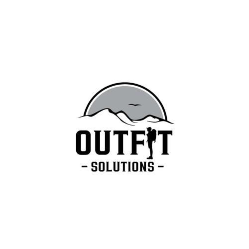 Outdoor Logo in schwarz/weiss