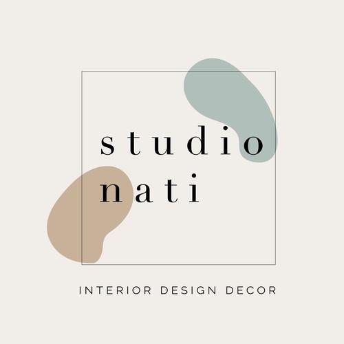 Interior design logo concept, minimal branding