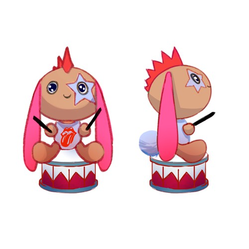 Rock/Heavy Metal plush toy character concept