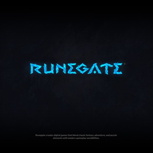 Runegate gaming logo design