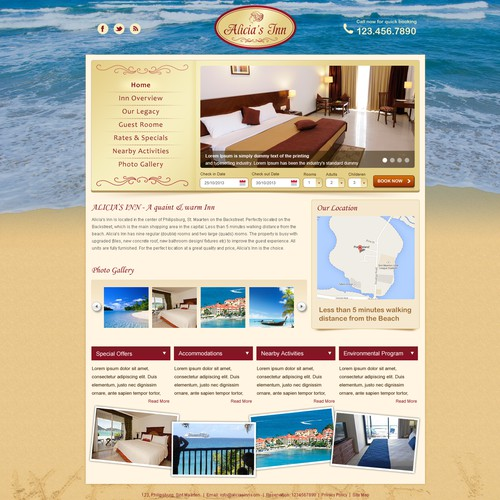 Alicia's Inn  needs a new website design
