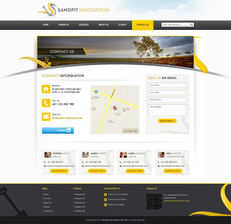 Sandpit Innovation Pty Ltd needs a new website design