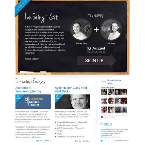 website design for Iterate Institute