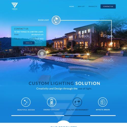 Landing Page for Custom Lighting Solution