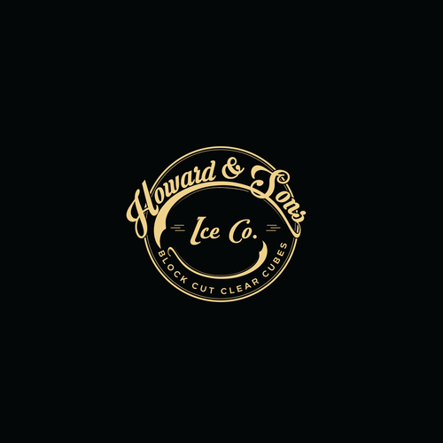 Traditional Logo style for Howard & Sons Ice Co.