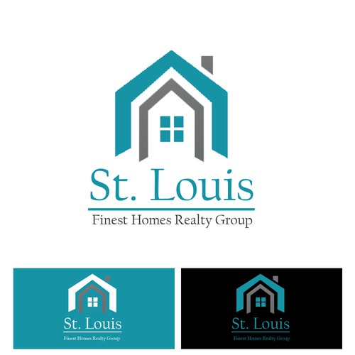 Create a logo for a dynamic Real Estate Group