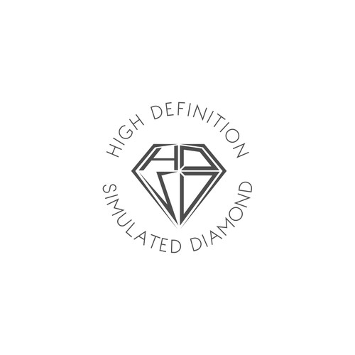 logo for  Hi-Def  Simulated   or   Hi-Definition Simulated Diamond