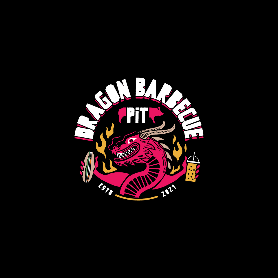 Design a hardcore/punk rock inspired logo for Asian influenced, bbq food business