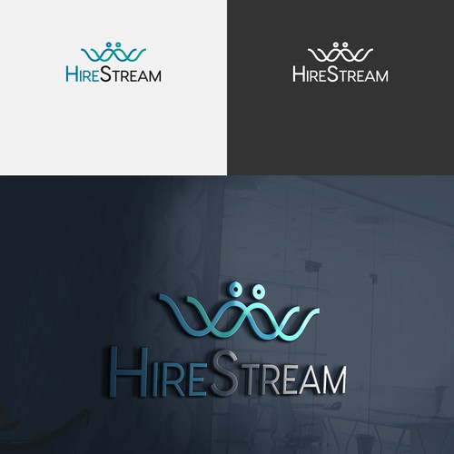 modern look foe Hirestream logo