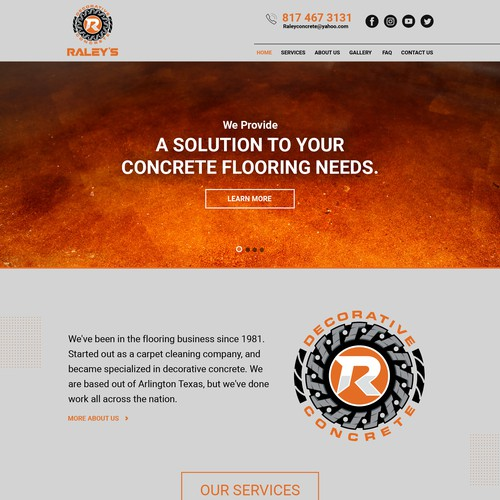 Excellent design for a Decorative Concrete company