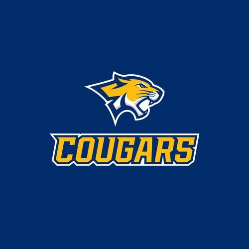 Cougar Mascot Logo for School