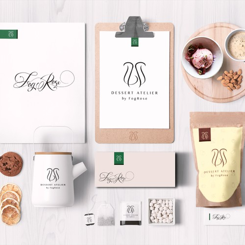 Sophisticated logo for an ice cream atelier