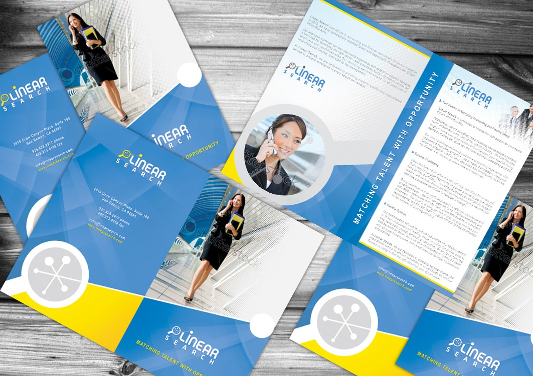 Brochure design for Linear Search