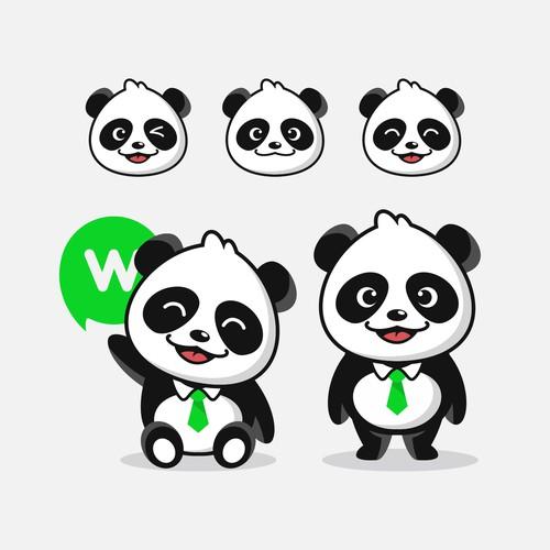 Panda mascot character