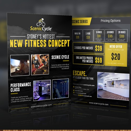 Create a flyer for Sydney's Hottest New Fitness Concept!