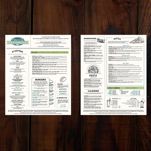 Alehouse Menu
