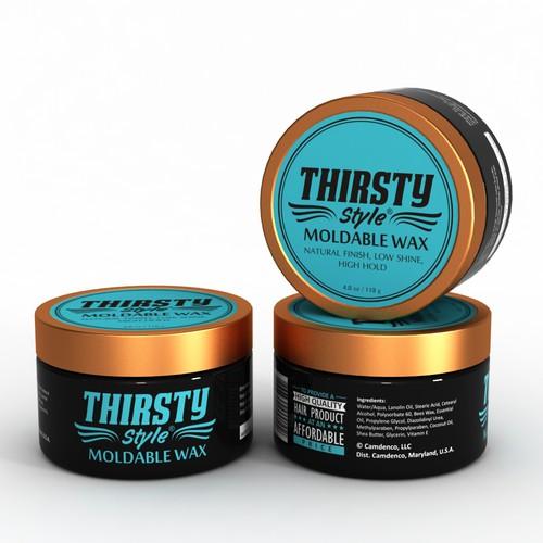Men's Hair Product packaging