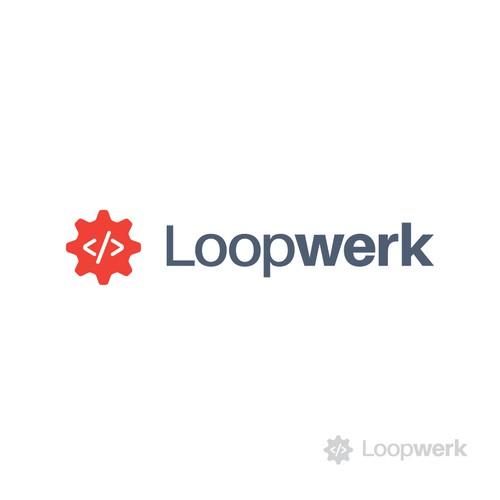 minimal, modern logo for IT company