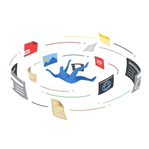 Illustration for bookmarkOS website