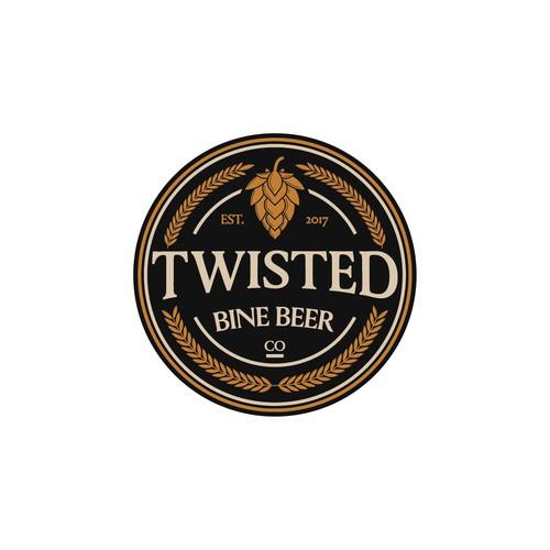 vintage brewery logo