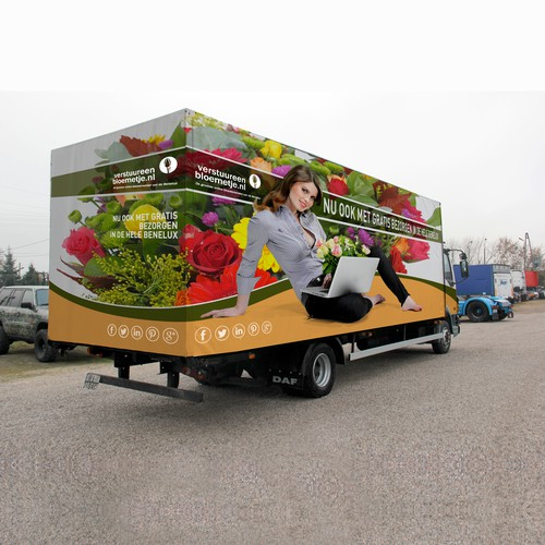 Dutch flower shop Truck Wrap design