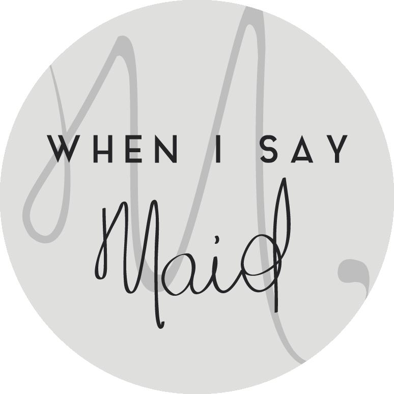 Create a clean, modern logo for maid service with a feminine twist