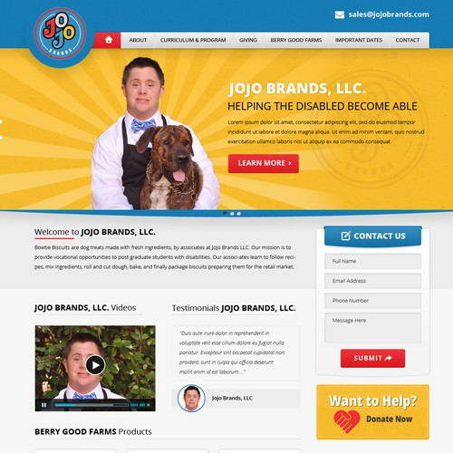 Jojo Brands Website