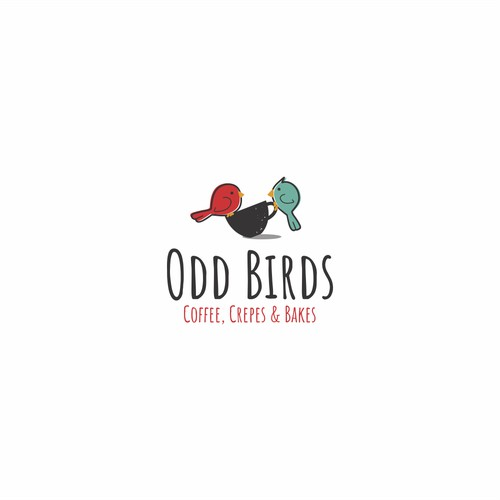 Fun and modern logo for Odd Birds Cafe