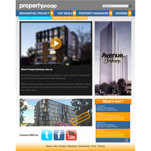 Help Propertysnoop.com.au with a new design
