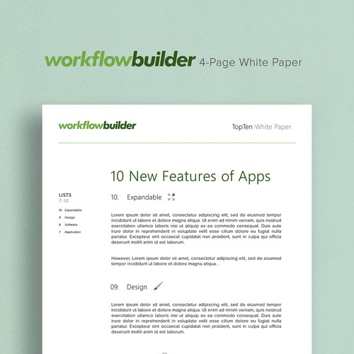 Workflow Builder - 4- Page Design Template