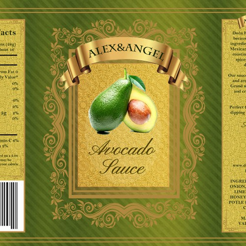 Product label for Avocado Sauce