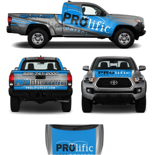 Prolific Pest Control wrap design