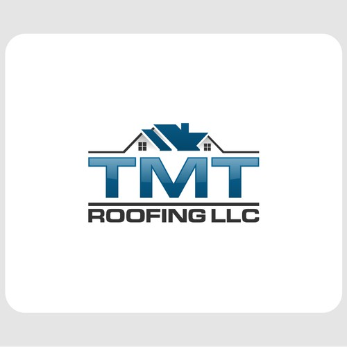 Create a professional logo for TMT Roofing LLC