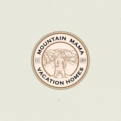 rustic and classic logo design for rent vacation homes in Harpers Ferry, WV