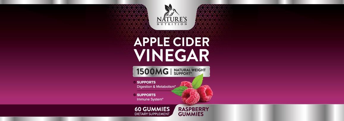 Nature's Nutrition - Apple Cider Vinegar Raspberry Gummies Label Needed