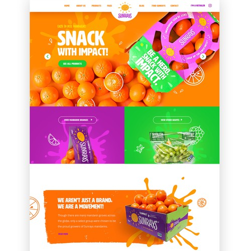 Kid-friendly web design for our expanding national fresh fruit brand