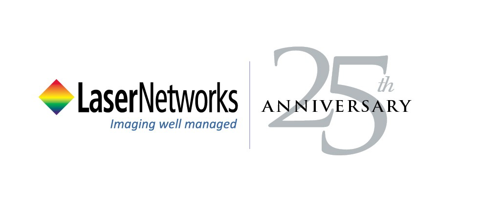 Update the existing logo for LaserNetworks for our 25th Anniversary