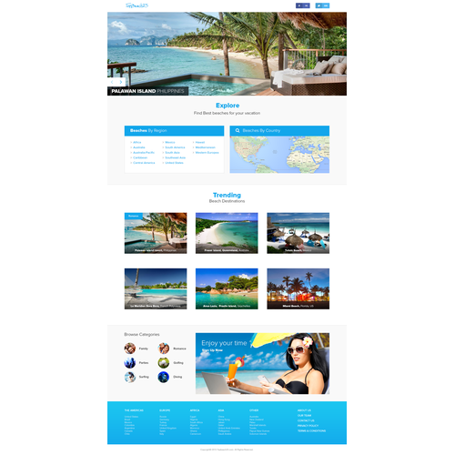 Beach Locator Website Landing Page