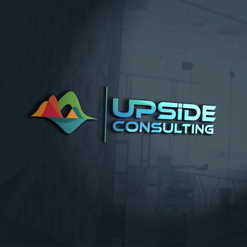 Upside Consulting Logo design