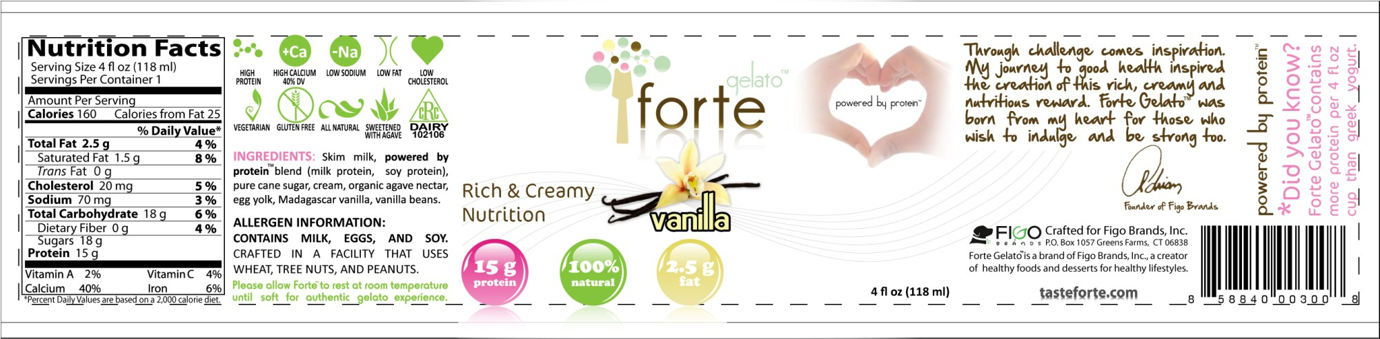 Ciao Bella & Haagen Dazs can't compete with Forte Gelato - cup design project