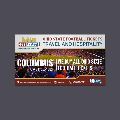 Design Ohio State Football Tickets, Travel and Hospitality Ad for Ticket Agency in Columbus ASAP!!!