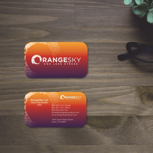 Business cards for medical billing company