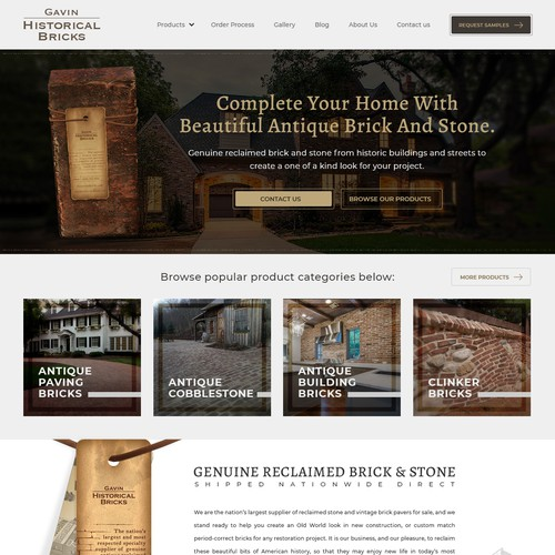 Landing page for Gavin Historical Bricks