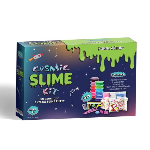 DIY Cosmic Slime Kit for Kids