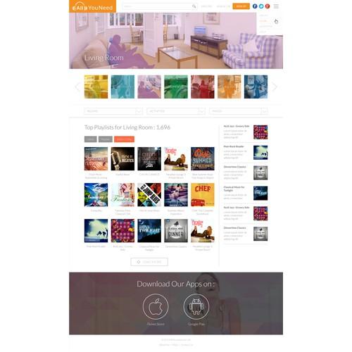 Playlist creation microsite