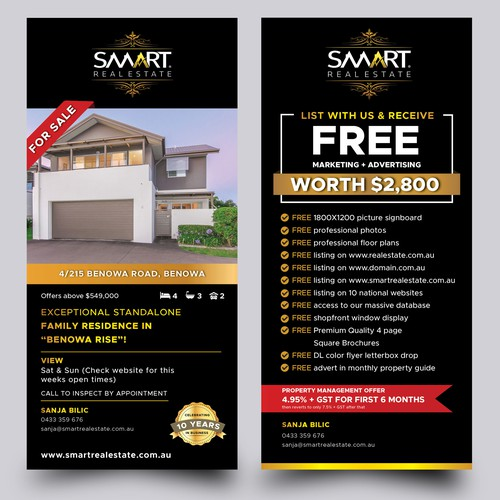 Design an IMPACT Flyer/Brochure/sign campaign for Smart Real Estate thats stands out!