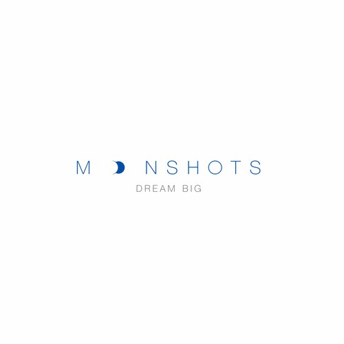 a simple smart logo for Moonshots