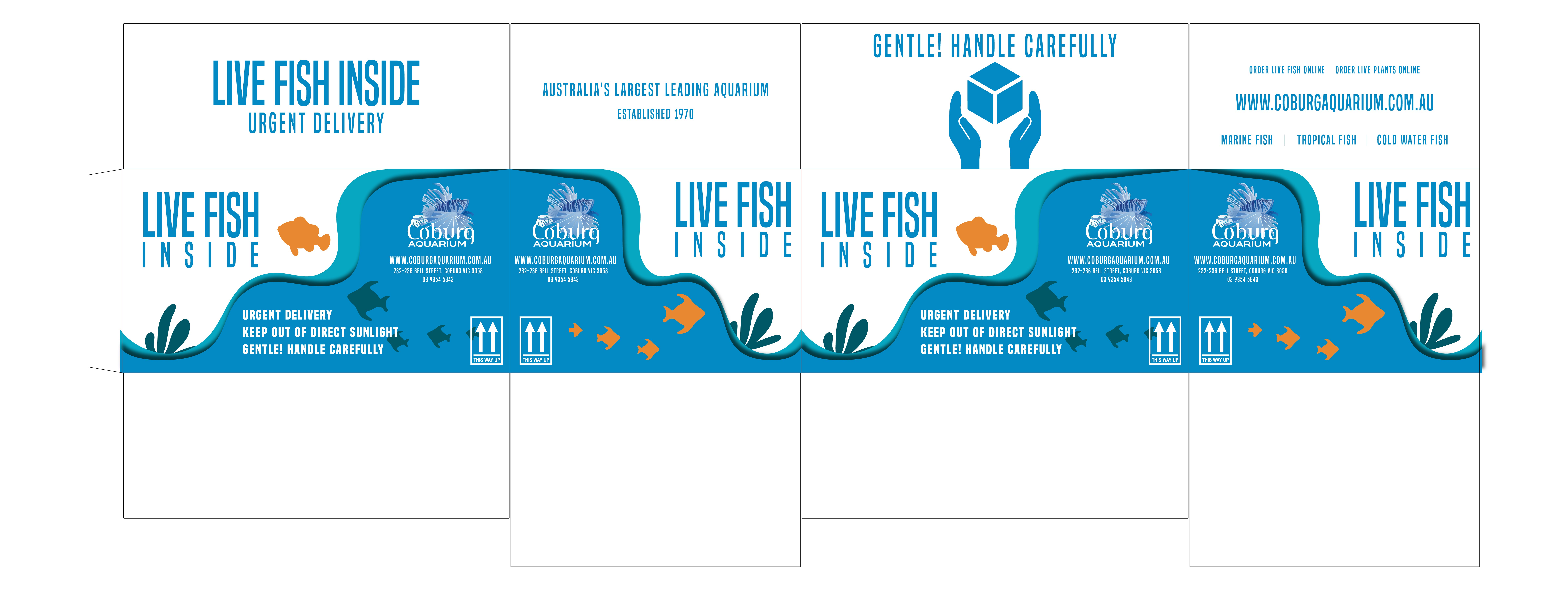 Delivery Box for LIVE FISH & PLANTS - Get Creative